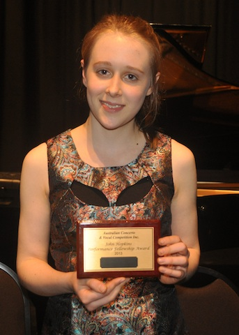 Grace Clifford Winner of OPEN with John Hopkins Performance Fellowship Award