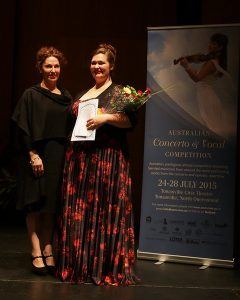 Morgan Jones & Adjudicator Cheryl Barker AO