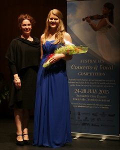 Cassandra Wright & Adjudicator Cheryl Barker AO
