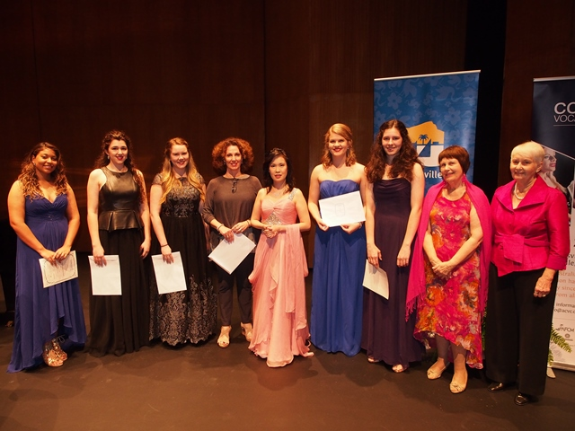 Section 4 - Vocal Entrants with Adjudicator Cheryl Barker AO, and Accompanist Maryleigh Hand