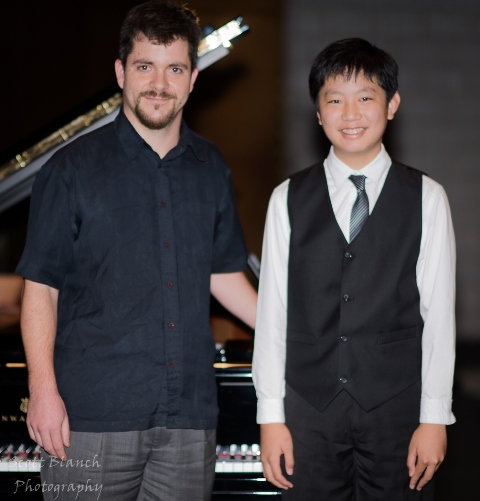 1st & Youth Development Award - Reuben Tsang, Cairns with accompanist Rhodri Clarke