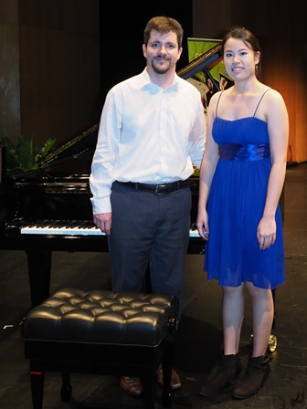 Amanda Pang, Brisbane with accompanist Rhodri Clarke