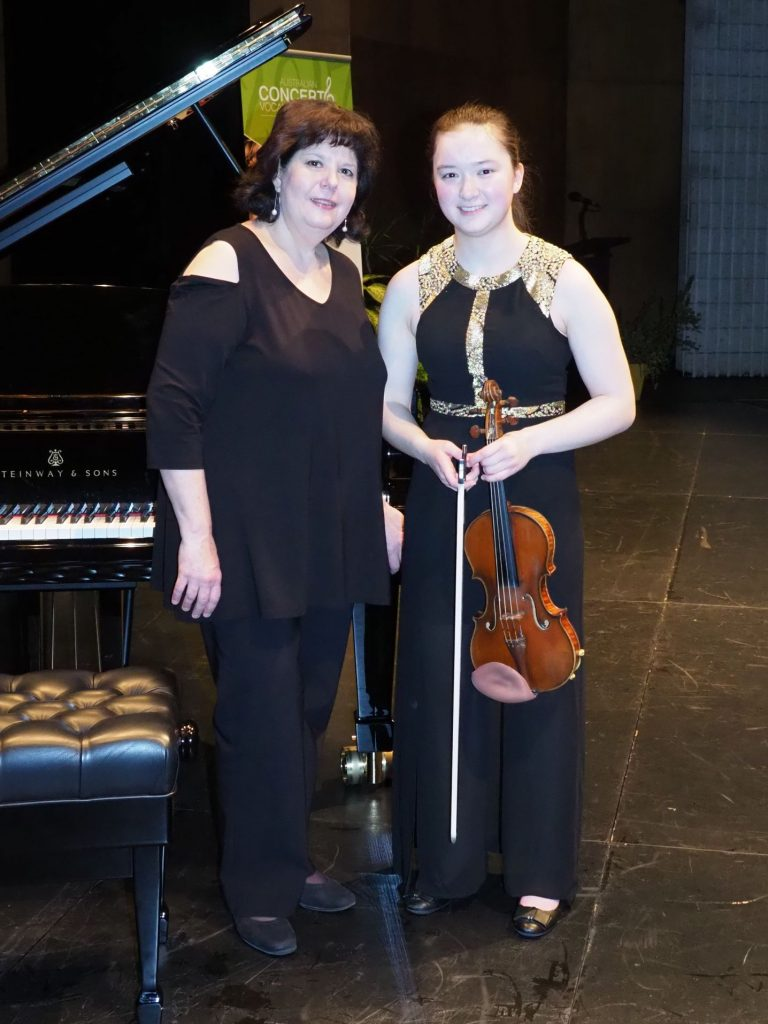 Amy Huang, Sydney with accompanist Sorina Zamfir