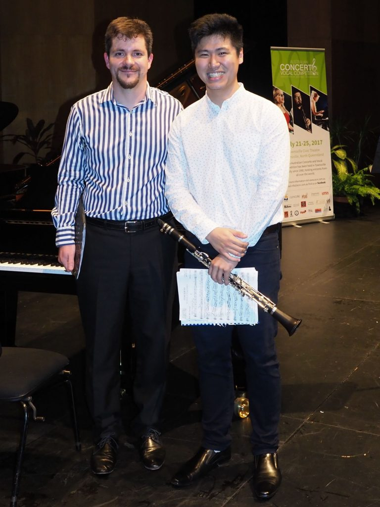 Andrew Fong, Townsville with accompanist Rhodri Clarke