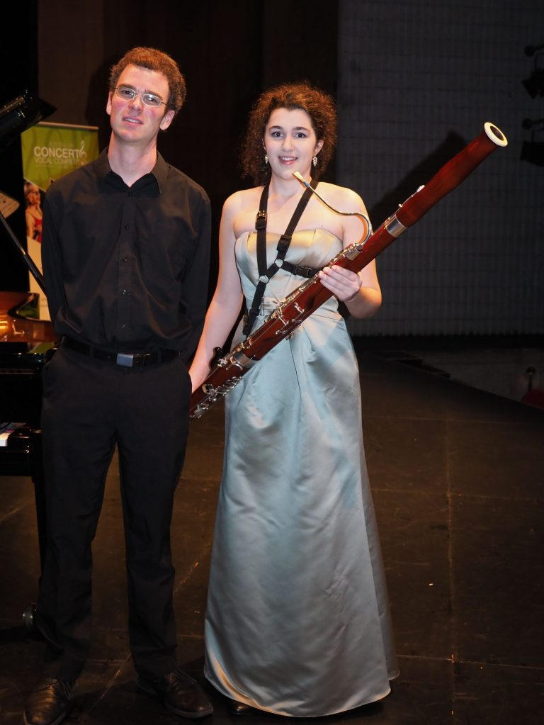 Bianca Bacchiella, Ingham with accompanist Robert Manley