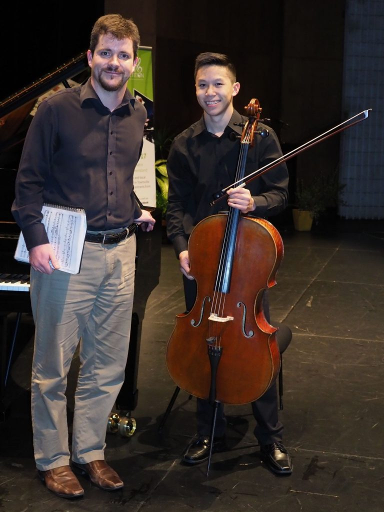 Caleb Wong, Melbourne with accompanist Rhodri Clarke