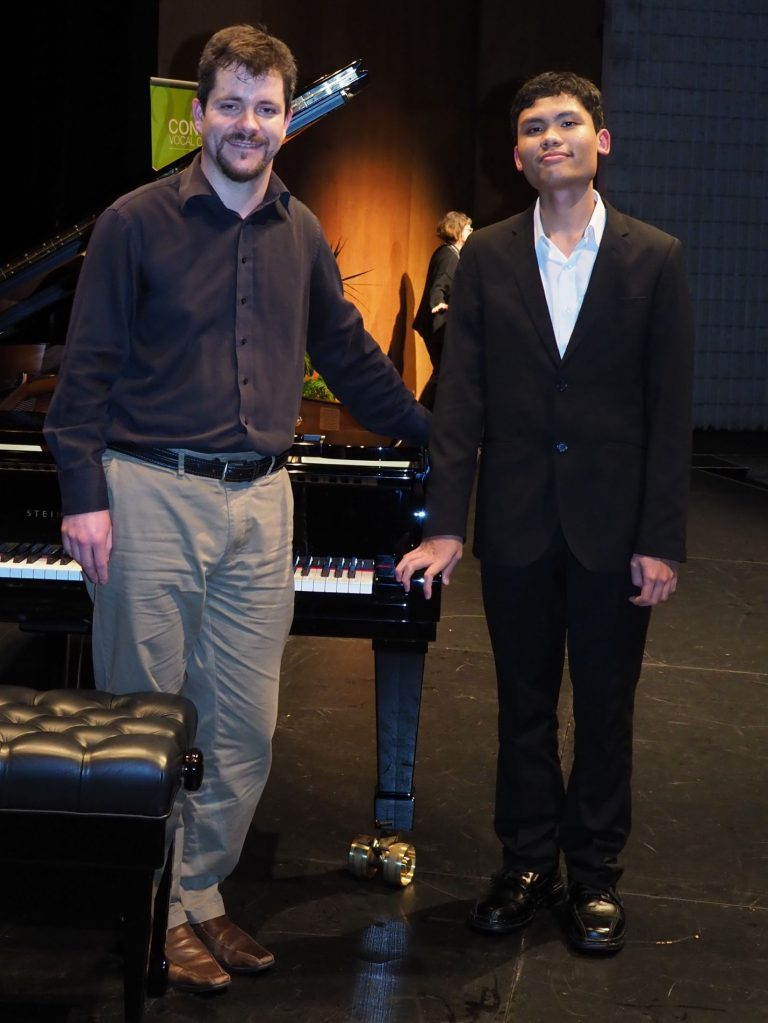 Calvin Abdiel, Sydney with accompanist Rhodri Clarke - Most Promising Pianist