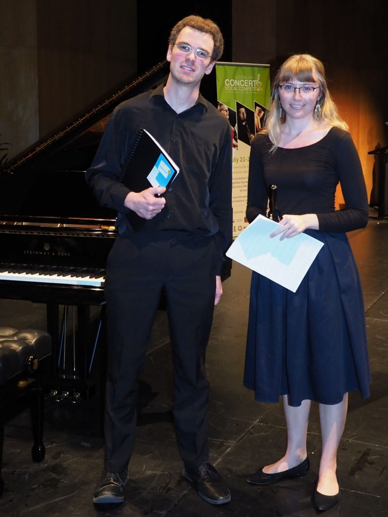 Greta Hunter, Brisbane with accompanist Robert Manley