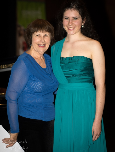 Jacalyn Adcock with accompanist Maryleigh Hand