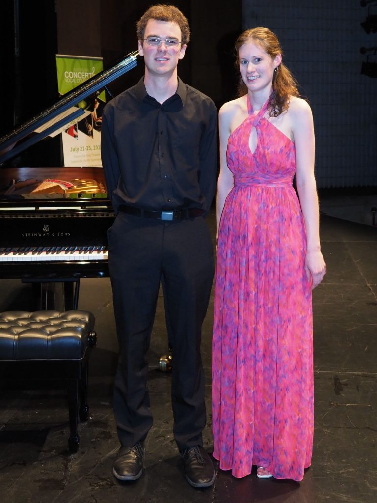 Joanna Gibson, Brisbane with accompanist Robert Manley