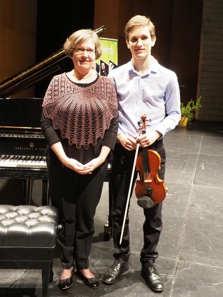 Johnny van Gend, Brisbane with accompanist Jane van Gend