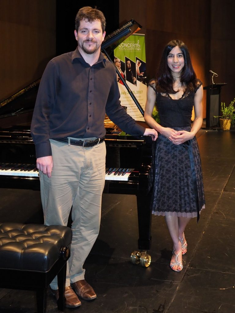 Laura Hassaram, Melbourne with accompanist Rhodri Clarki