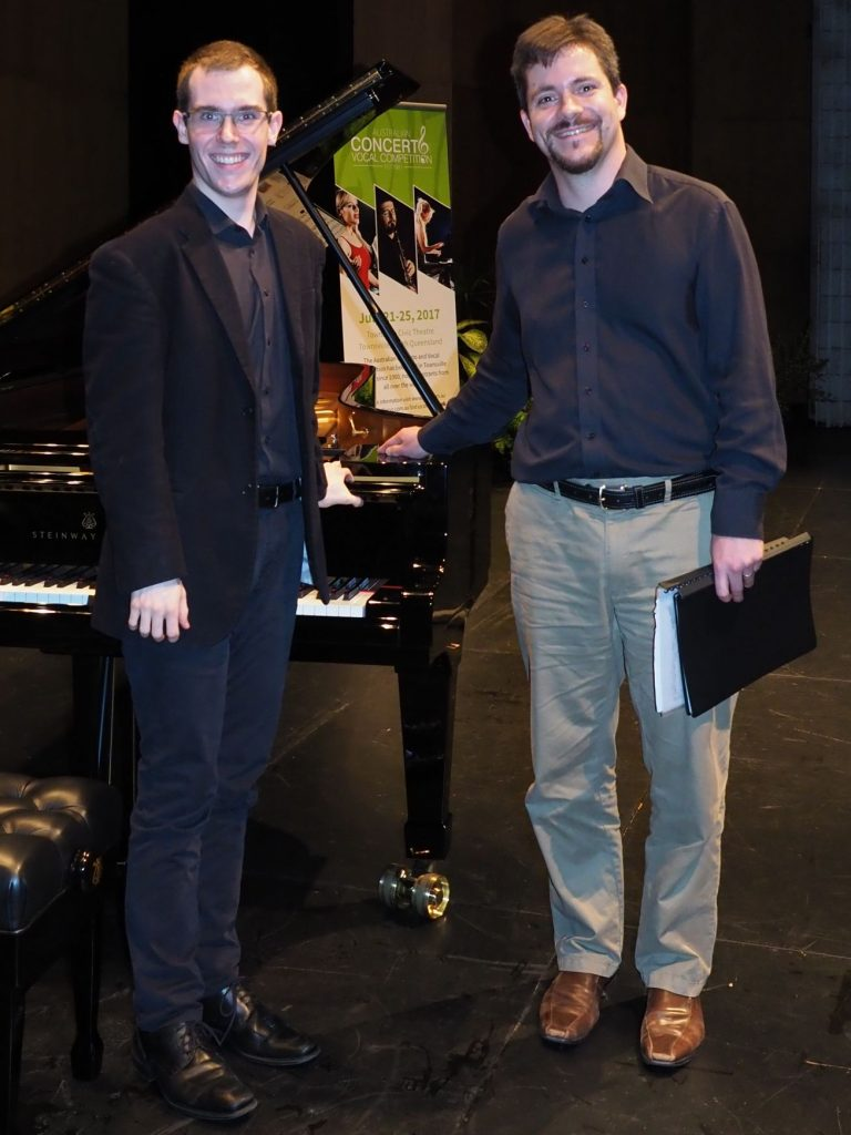 Nicholas Kennedy, Sydney with accompanist Rhodri Clarke