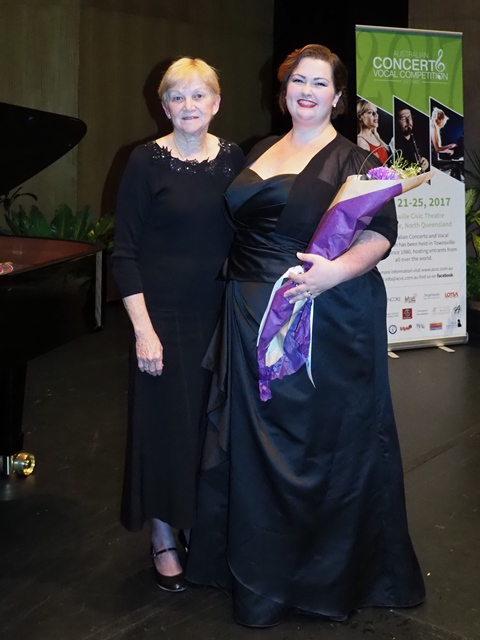 1st - Morgan England-Jones, Brisbane with accompanist Jan Whelan
