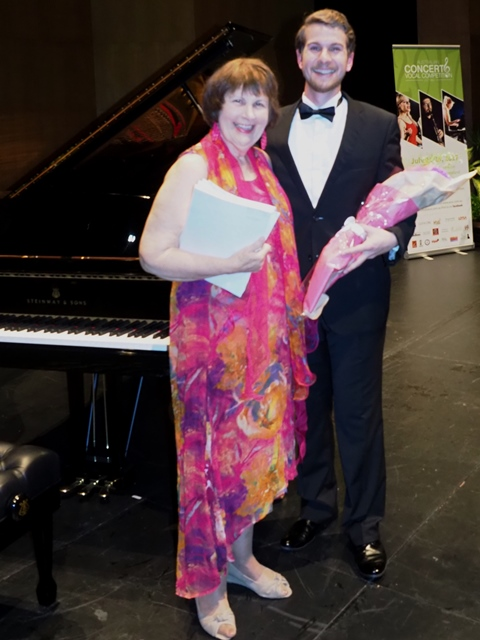 2nd - Blake Parham, Sydney with accompanist Maryleigh Hand