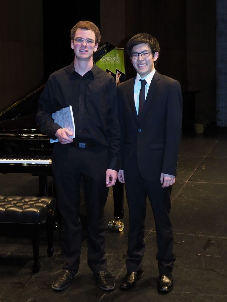 William Shi, Brisbane with accompanist Robert Manley