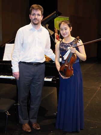 Yebin Yoo, Melbourne with accompanist Rhodri Clarke- Most Promising Strings Award