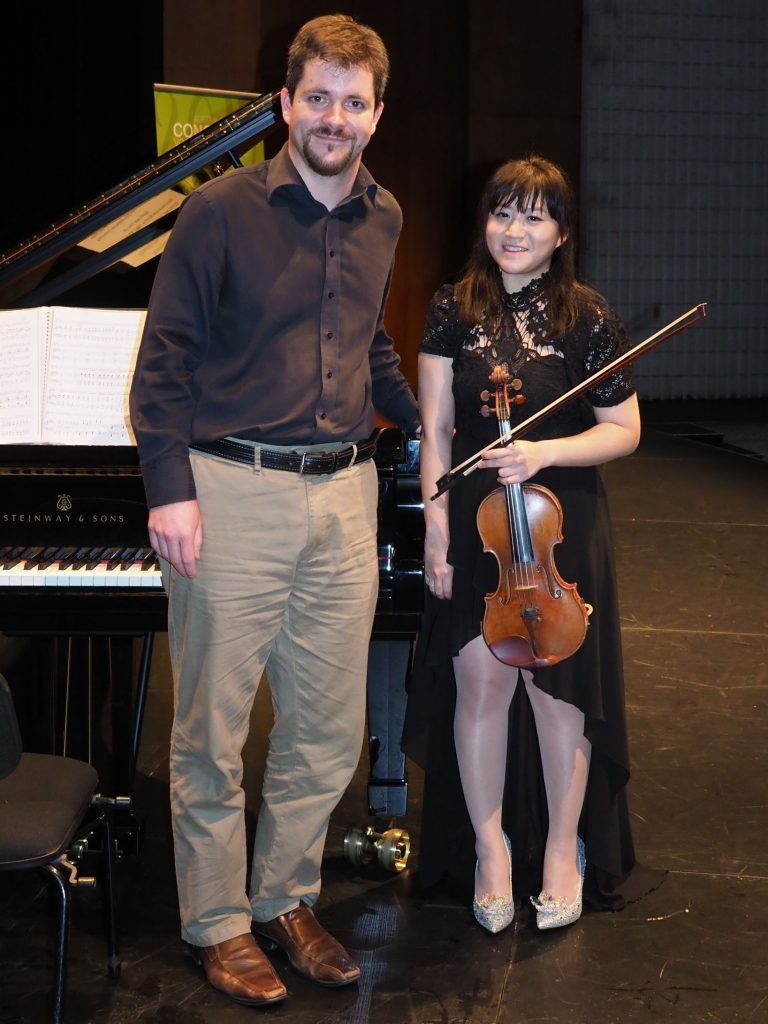 Yeonhee Kim, Sydney with accompanist Rhodri Clarke