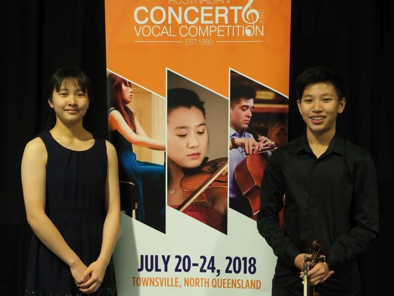 2nd - Ingram Fan, Gold Coast with accompanist Nina Fan