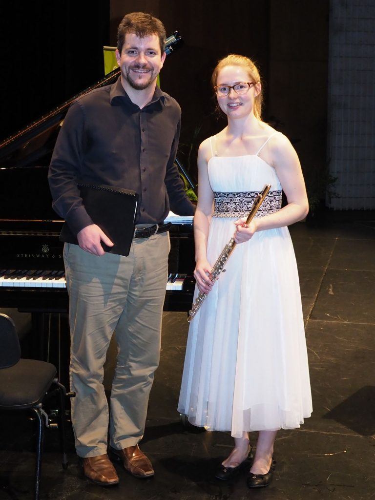 Alyse Faith, Sydney with accompanist Rhodri Clarke - Most Promising Brass or Woodwind Player