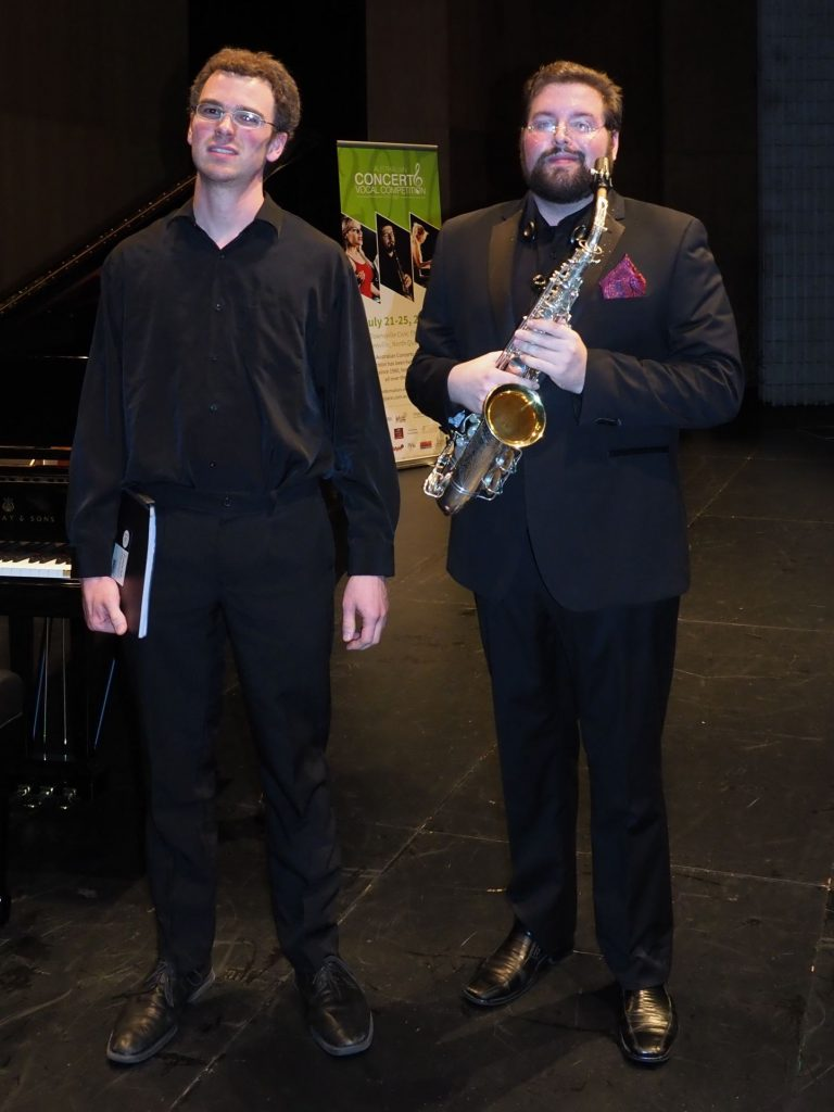 Cameron Millar, Brisbane with accompanist Robert Manley - Most Outstanding Musician from North Queensland