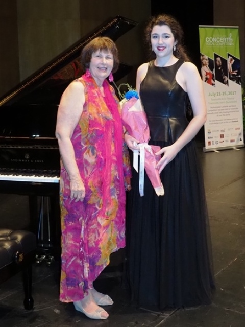Most Promising Vocalist - Bianca Bacchiella, Ingham with accompanist Maryleigh Hand