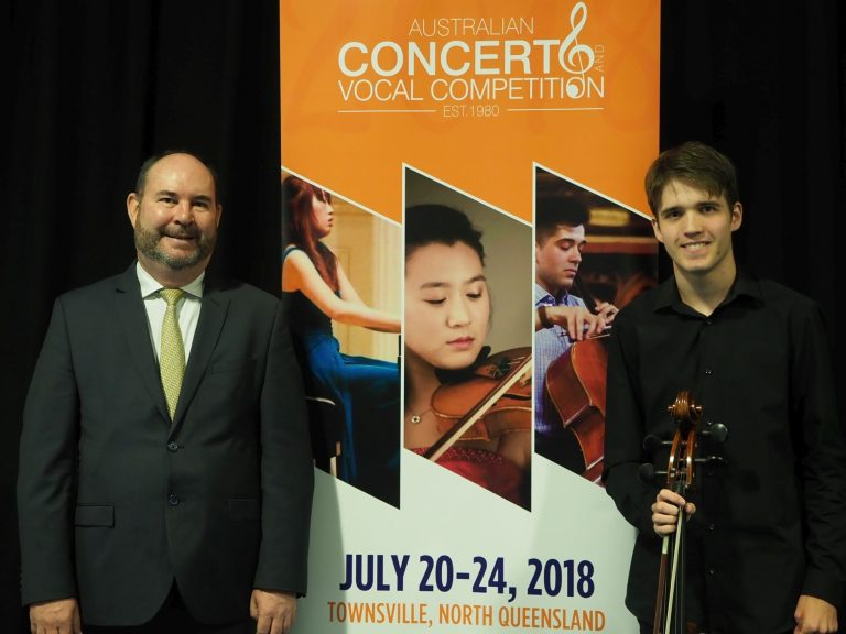 Michael Carroll, Townsville with accompanist Sam Blanch - Highly Commended and Youth Development Award